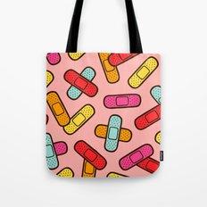 Rainbow Band-Aids Tote Bag