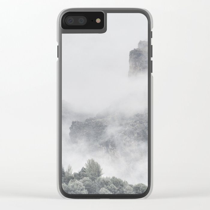 """""""The mountains are calling to me"""" Clear iPhone Case"""