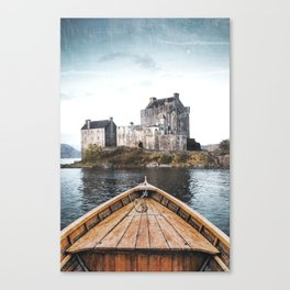 The Boat and the Castle-Scotland Canvas Print