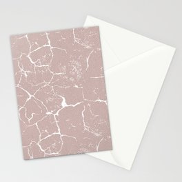 Abstract coral textures on soft paper Stationery Cards
