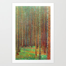 """Fir Forest"" by Gustaf Klimt Art Print"