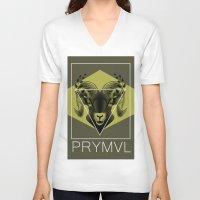 ram V-neck T-shirts featuring Ram by Ryan Ingram