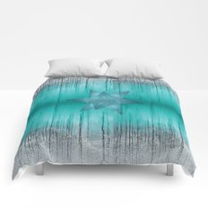 Crystal frozen star forest Comforters