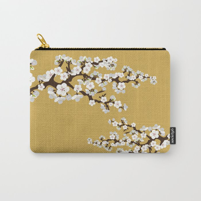 Japanese Sakura Cherry Blossoms (gold) Carry-All Pouch