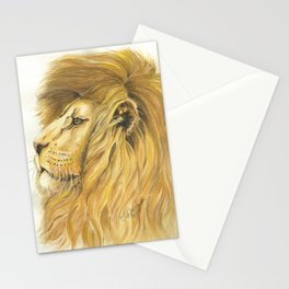 Lion head in Watercolor Stationery Cards