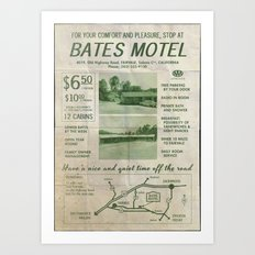 PSYCHO - Bates Motel welcomes you Art Print