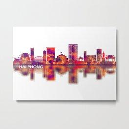 Hai Phong Vietnam Skyline Metal Print
