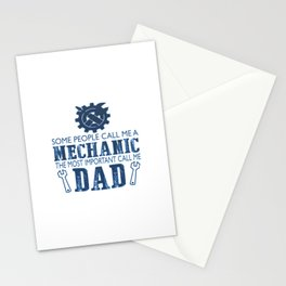 I'm a mechanic and I'm a dad Stationery Cards