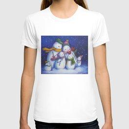 Snow Family Portrait T-shirt