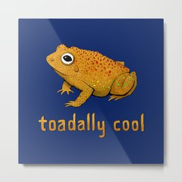 Toadally Cool Psychedelic Toad Metal Print