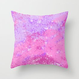 Pink and Purple Crystal Throw Pillow