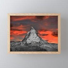 Matterhorn of Zermatt, Switzerland at sunset Framed Mini Art Print