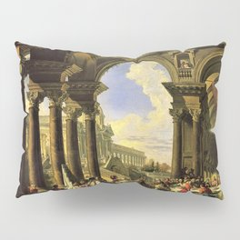 Giovanni Paolo Panini's Masterpiece: The Wedding at Cana, circa 1725 Pillow Sham