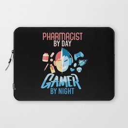 Pharmacist By Day Gamer By Night Laptop Sleeve