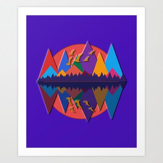 Mountain Scene #8 Art Print