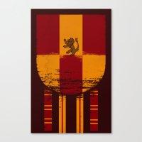 gryffindor Canvas Prints featuring gryffindor crest by nisimalotse