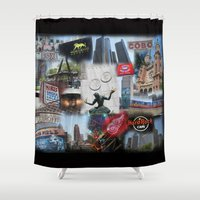 detroit Shower Curtains featuring Detroit MI by Andrew Sliwinski