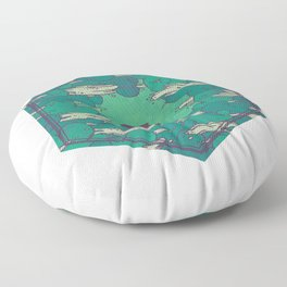 Away from Everything Floor Pillow