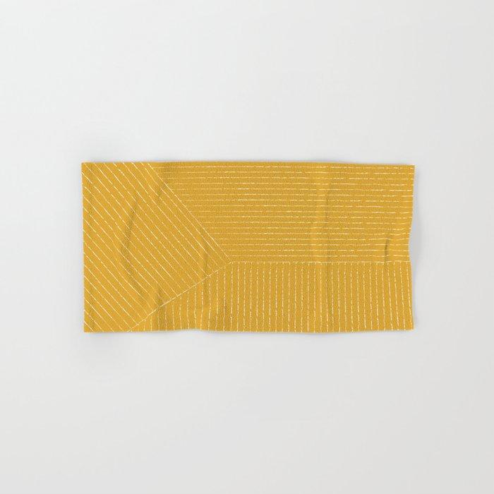 Lines / Yellow Hand & Bath Towel