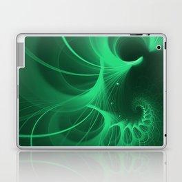 Green Spiral Laptop & iPad Skin