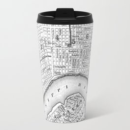 Vintage Map of New Orleans (1880) BW Travel Mug