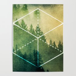 The Elements Geometric Nature Element of Earth Poster