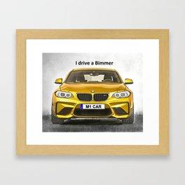 A Bimmer car Framed Art Print