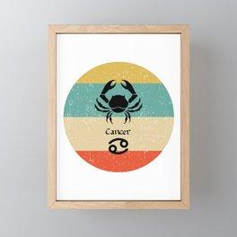 Cancer Zodiac Retro Gift design Framed Mini Art Print