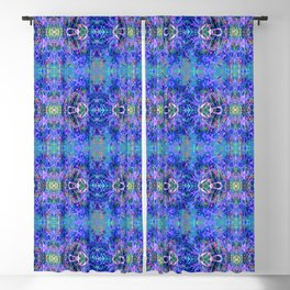 Blue-nature-pattern Blackout Curtain