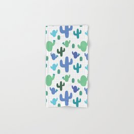 Cactus blue and green #homedecor Hand & Bath Towel