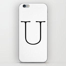 Letter U Typewriting iPhone Skin