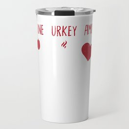 WTF Wine Turkey Family Funny Thanksgiving Travel Mug
