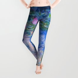 Water Lilies Monet Leggings
