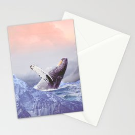 Mount Whales Stationery Cards
