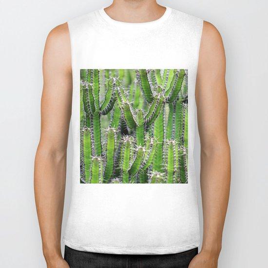 cactus illusion 4 Biker Tank