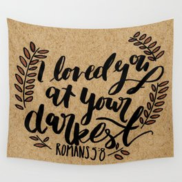 Romans 5:8 Wall Tapestry