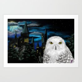 Hedwig at Hogwarts Art Print