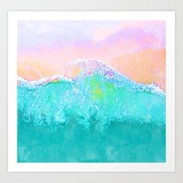 The Sea #graphic #nature Art Print