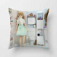 bathroom Throw Pillows featuring Bathroom by ♥  Little Enchanted World ♥
