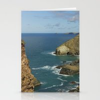 agnes cecile Stationery Cards featuring Cornish Seascape St Agnes  by Cornish Seascapes