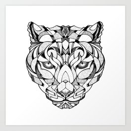 Leopard - Drawing Art Print