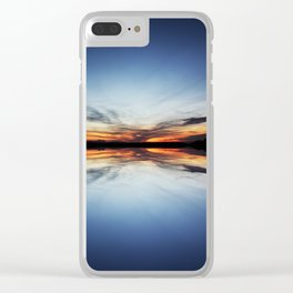 Reflecting Sunset - 5 Clear iPhone Case