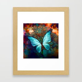The Blue butterfly Framed Art Print