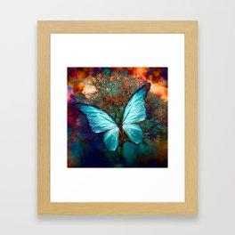 The Blue butterfly Framed Art Print