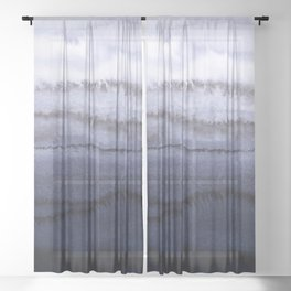 WITHIN THE TIDES BLUE Sheer Curtain