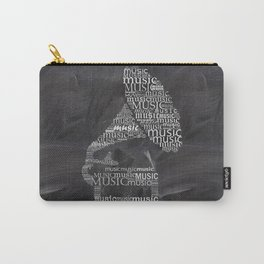 Gramophone on chalkboard Carry-All Pouch