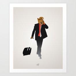 Industrious Alf Art Print