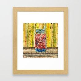 Sangria mason Jar Framed Art Print