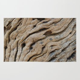 Close-up view rough texture of tree trunk Metal Print Rug