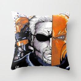 Deathstroke the Terminator Throw Pillow